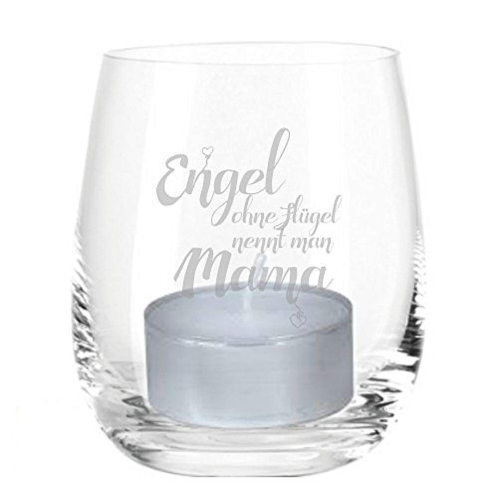 Mutter Mutti RUND Geschenk Muttertag Mama van Hoogen /♥ Leonardo Teelicht Engel ohne Fl/ügel nennt Man Mama Teelicht mit Gravur