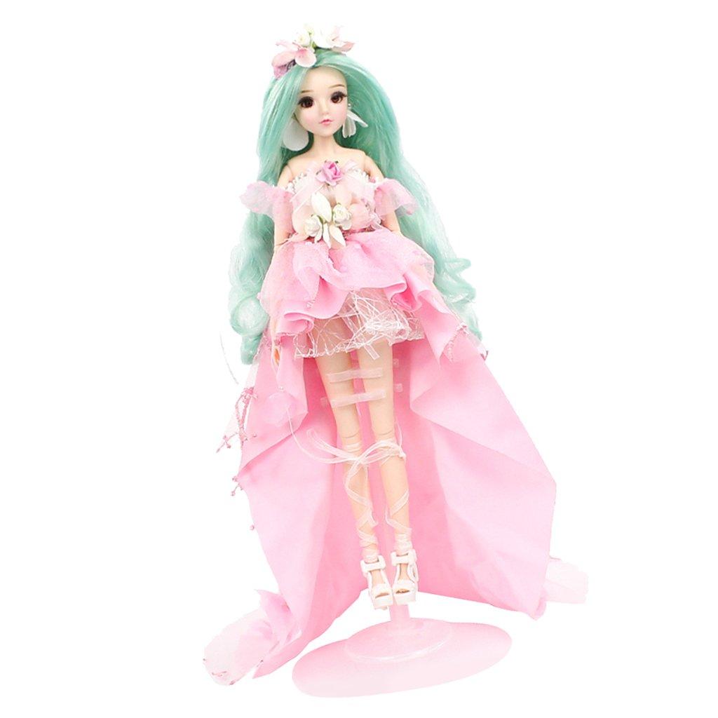 Baoblaze 30cm Flexible 14 Gelenke Konstellation Mädchen Puppe Minipuppe mit vollem Kostüm, Schuhen, Ständer und anderem Zubehör Kinderspielzeug - Jungfrau