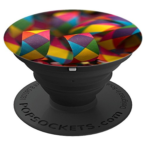 Focused Carnival Streamers and confetti Colored Rainbow - PopSockets Grip and Stand for Phones and Tablets -