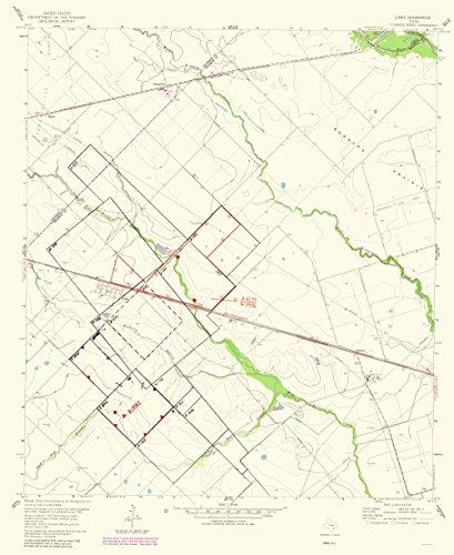 Topographical Map Print - Lissie Texas Quad - USGS 1983 - 23 x 28.14 - Matte Art (1983 Quad)