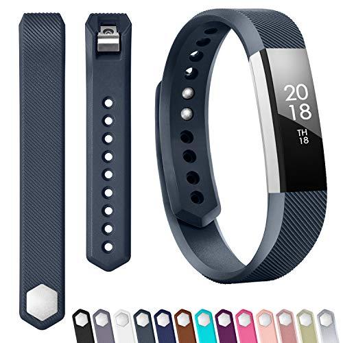 Silicone Adjustable - TreasureMax for Fitbit Alta Bands/Fitbit Alta HR Bands/Fitbit Ace Bands, Adjustable Soft Silicone Sports Replacement Bands for Women Men,Small/Large