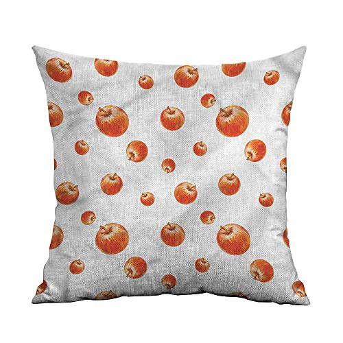 (GtuDecor Pillowcases Covers,Apple,Watercolor Cameo Fruits,Decorative Throw Pillows for Bed,W 14