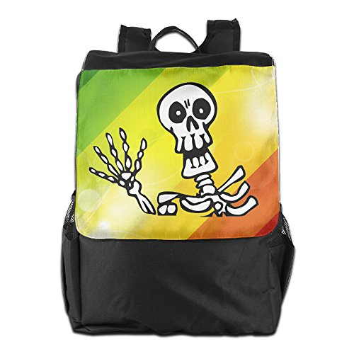 Halloween Skeleton Skull Outdoor Travel Hiking Backpack Daypacks Casual Camping Climbing Shoulders Bag Unisex ()