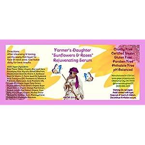 """Farmer's Daughter """"Sunflowers & Roses"""" Rejuvenating Serum (2 oz) Best Face Serum, Better Than Vitamin C Serum with Hyaluronic Acid, Anti Aging Cream for Women & Men, Wrinkle Remover, Dark Spot Remover"""