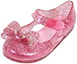 first steps Girls Glitter Jewel Bow Mary Jane Jelly Shoes, Light Pink, 6 M US Toddler'