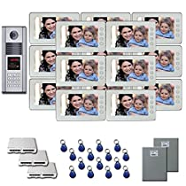 Office Building Video Entry 15 7 color monitor door panel kit
