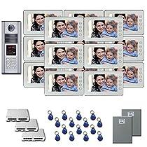 Building Video Intercom 15 7 color monitor door panel kit