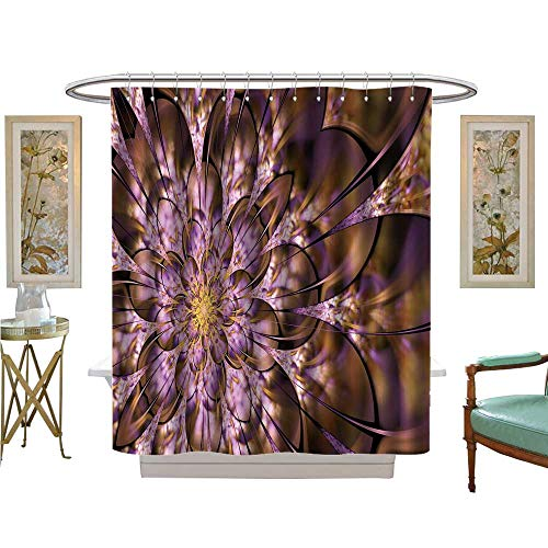 Chicago Glass Stained Nfl Bears - luvoluxhome Shower Curtains Fabric Multicolored Symmetrical as Flower or Butterfly in Stained Glass Window Style Fabric Bathroom Decor Set with Hooks W69 x L75