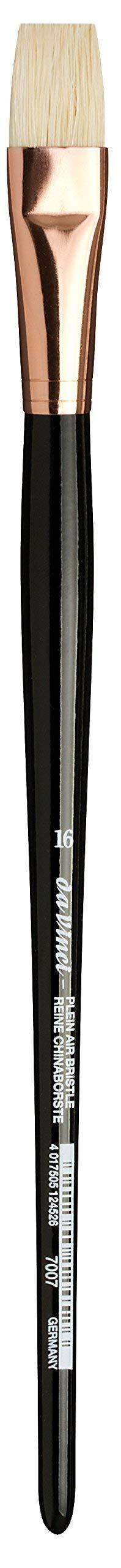 da Vinci Hog Bristle Series 7007 Plein Air Oil Painting Brush, Flat Short with Black Lacquered Handle and Copper Ferrule, Size 16 (7007-16) by da Vinci Brushes