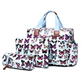 Miss Lulu 4 Piece Butterfly Baby Nappy Changing Bag Set (Blue) by Miss Lulu
