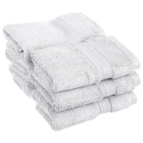 (6-Piece Face Towel Set, Premium Long-Staple Cotton, 900 GSM, White)
