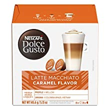 Nescafe Dolce Gusto Coffee Pods, Caramel Macchiato, 16 capsules, Pack of 3