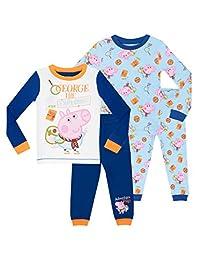 George Pig Pajamas Boys' George Pig 2 Pack Pajamas