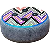 MightySkins Skin for Amazon Echo Dot (3rd Gen) - Colorful Chevron | Protective, Durable, and Unique Vinyl Decal wrap Cover | Easy to Apply, Remove, and Change Styles | Made in The USA