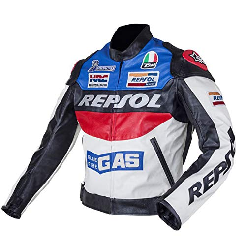 LLC-CLAYMORE Motorcycle Riding Jackets, Moto Jacket for Men and Women, Windproof Waterproof PU Fabric Jackets for Spring and Autumn,XXL