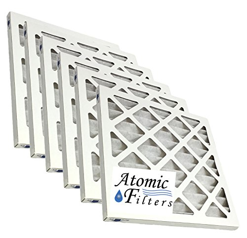 Atomic 14x14x1 MERV 8 Pleated Ac Furnace Filter - 6 Pack (Heating Vent Filter)