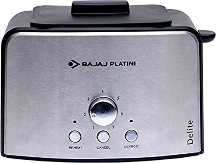 Bajaj Platini Delite 800W Pop up Toaster (Silver)