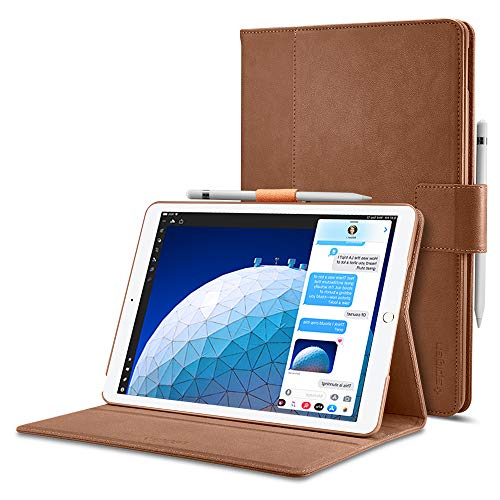 Spigen Stand Folio Designed for iPad Air 3 Case (10.5 inch 2019), iPad Pro 10.5 Case (2017) - Brown