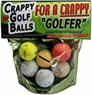 Crappy Golf Balls for a Crappy Golfer - Funny Gag Gifts for Golfers Guaranteed NOT to Improve Your Golf Game I