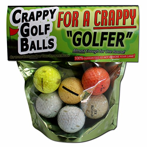 Gear Golf (Crappy Golf Balls for a Crappy Golfer – Funny Gag Gifts for Golfers Guaranteed NOT to Improve Your Golf Game Includes 6 Golf Balls Novelty Golf Gifts by Gears Out)