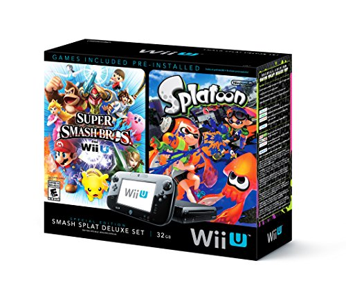 Wii U Super Smash Bros and Splatoon Bundle - Special Edition Deluxe Set (Nintendo Wii U Super Mario Maker Console)