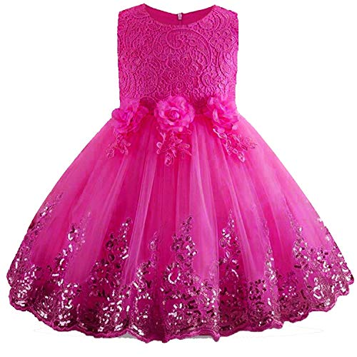 (Girls Dress Princess Party Dresses Costume Wedding Dress 3 7 8 9 10 Year Vestido,Mei red,8)