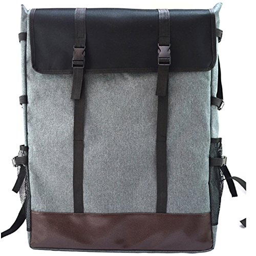 Fanchuang Canvas Art Supply Portfolio Backpack Carry for Sketch Board Easel Palette Brushes Storage,19.29x4.52x25.19 inches (Gray) by Fanchuang