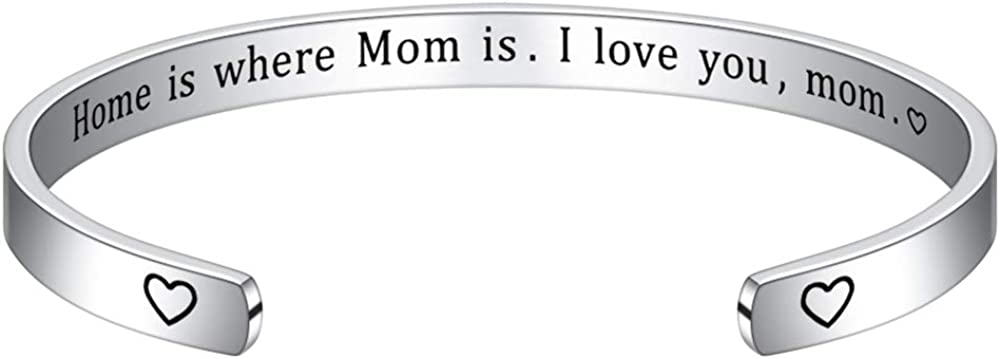 M MOOHAM Mom Gifts Bracelet from Daughter Son, Engraved Quote Grandmother Granddaughter Bracelets Gifts, Mom Bracelets Mother's Day Present Gifts for Mom Grandma Christmas Birthday