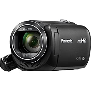 """Panasonic HC-V380K Full HD Camcorder with Wi-Fi Multi Scene Twin Camera – Black with Bundle Includes, 64GB High Speed Memory Card, 57"""" Full size Tripod & 6' High Speed mini-HDMI to HDMI A/V Cable by Panasonic"""
