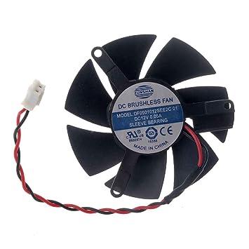 Amazon.com: df0501012see2 °C tarjeta gráfica ventilador 47 ...