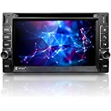 """Corehan 6.2"""" Touch Screen in Dash Double Din GPS Navigation Vehicle Car Dvd Player Stereo Reciver with Bluetooth USB"""