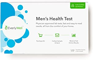 Everlywell Men's Health Test - at Home - CLIA-Certified Adult Test - Accurate, Discreet Saliva Analysis - Results Within Days - Measures 4 Key Hormones - Not Available in NY, NJ, RI