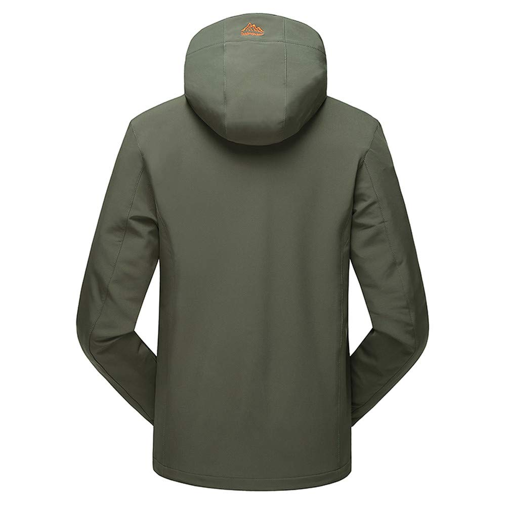 LGHOVRS Chaqueta Impermeable Forrada Hombre Chaqueta Softshell Outdoor
