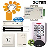 ZOTER Waterproof IP68 Access Control Security Metal RFID ID Card 125Khz Keypad Reader with 280KG 600lbs Magnetic Electric Door Lock