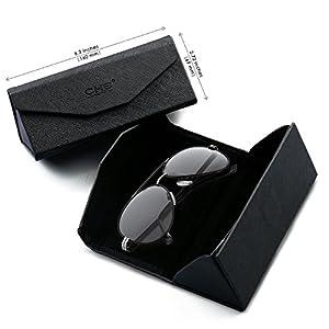 Lunettes de soleil Polarisées pour homme, Type Aviateur Monture en métal  léger, Protection UV400 avec étui, pochette, chiffon et carte de test de ... 4126ebad433a