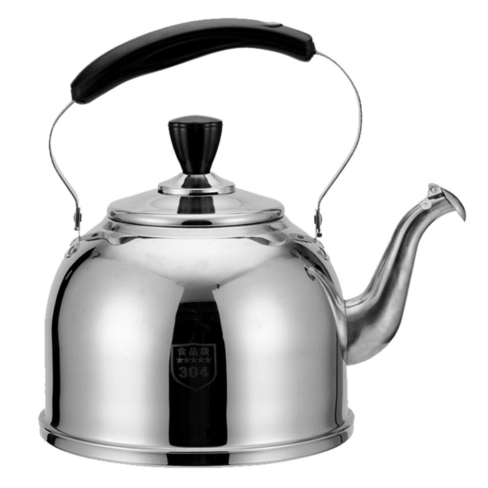 Whistling Kettle Stainless Steel Kettle, for Home Kitchen Restaurant Hotel Cafe Use and Outdoor Camping Hiking Picnic, 2L,3L,4L,5L,6L by HLLXX
