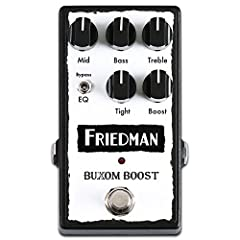 The Friedman Buxom Boost may be the most powerful tonal solution you ever put on your pedalboard. Like its namesake amp head, this pedal pushes a pure, clean signal to conjure the absolute most from your tone. Turning the boost control is you...