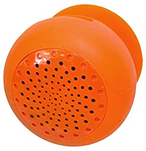 Audiobomb's Squish Water-Resistant Bluetooth Shower Speaker Rechargeable and Portable the Perfect Gift - Orange