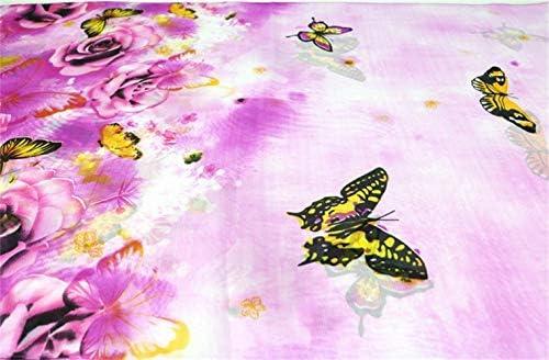 Dancila signore sciarpe in seta da donna stampato floreale sciarpa di chiffon di seta sciarpa sciarpe avvolgere choker 155 scialli scialli 50cm sciarpa