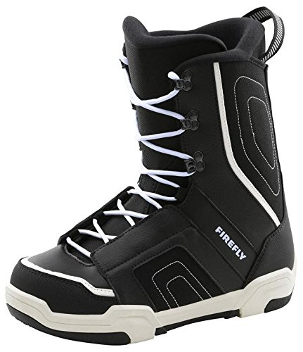 Firefly Snowboarding Snowboard Shoe Jr. C30Gladiator Child Black/White / Matte Silver 25 (M/L)