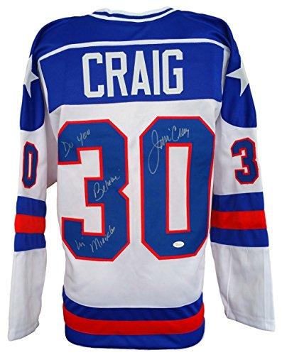 Jim Craig Signed Miracle On Ice Olympic Hockey Jersey Do ...