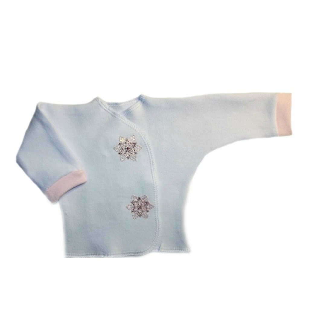 Jacquis Baby Girls Pink Snowflake Long Sleeve Shirt
