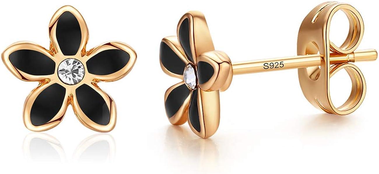 Stud Earrings 18K Gold...