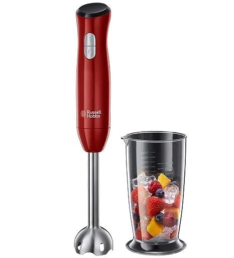 Russell Hobbs Desire 24690-5 Batidora de mano, 500 W, Vaso de 500 ml, para Smoothies, Acero inoxidable, Rojo