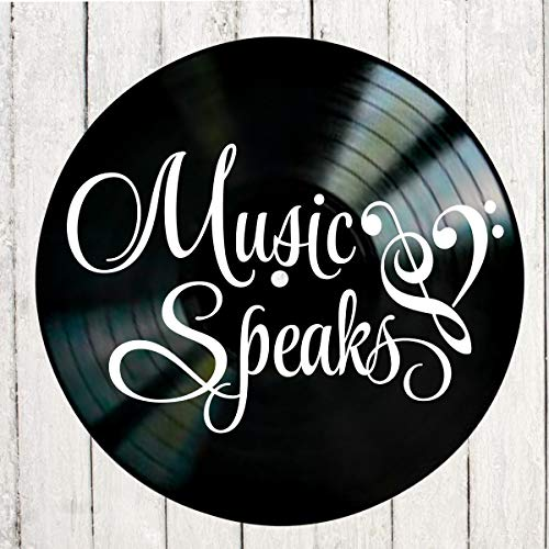 Amazon.com: Music Speaks Quote on a Vinyl Record Album wall ...