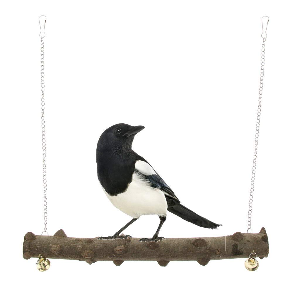 Computer accessories - Wild Natural Prickly Wood Stand Perch Swing For Bird Parrot by trang tri