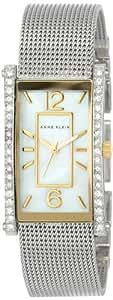 Anne Klein Women's AK/1271MPTT Two-Tone Swarovski Crystal-Accented Watch