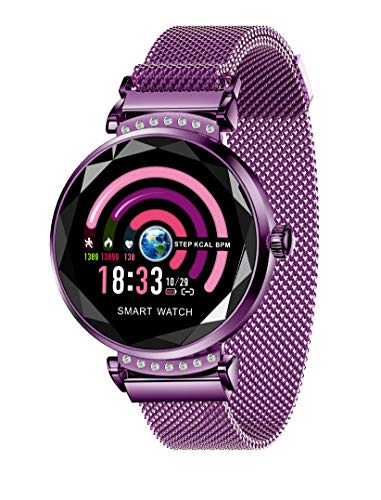 (Smart Watch for Women, IP67 Waterproof Fitness Tracker for Women with HR Blood Pressure Sleep Monitor Camera Remote Control Sport Watch for IOS Android Phone Mother's Day Birthday Gifts)