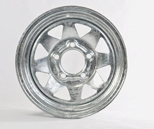 eCustomRim Trailer Rim Wheel 13 in. 13X4.5 5 Lug Hole Bolt Wheel Galvanized Spoke Design