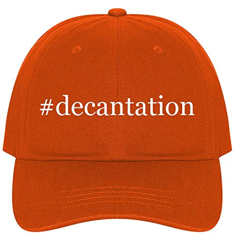 The Town Butler #Decantation - A Nice Comfortable Adjustable Hashtag Dad Hat Cap, Orange, One Size